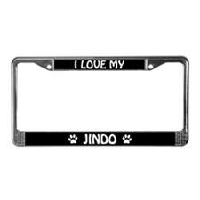 I Love My Jindo License Plate Frame