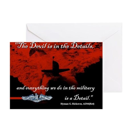 Devil in the Details Greeting Cards (Pack of 6)