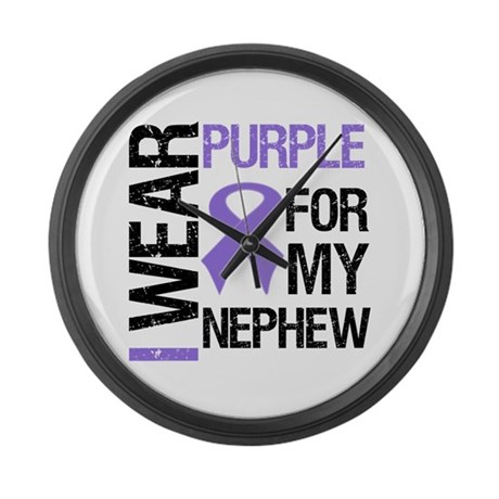 IWearPurple Nephew Large Wall Clock