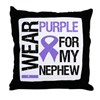 IWearPurple Nephew Throw Pillow