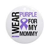 IWearPurple Mommy Ornament (Round)