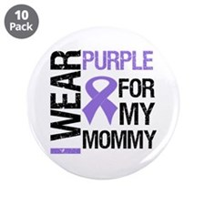 "IWearPurple Mommy 3.5"" Button (10 pack)"