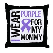 IWearPurple Mommy Throw Pillow