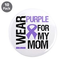 "IWearPurple Mom 3.5"" Button (10 pack)"