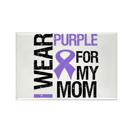 IWearPurple Mom Rectangle Magnet