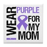 IWearPurple Mom Tile Coaster