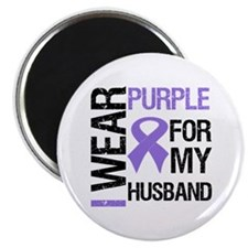 "IWearPurple Husband 2.25"" Magnet (10 pack)"