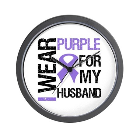 IWearPurple Husband Wall Clock