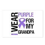 IWearPurple Grandpa Postcards (Package of 8)
