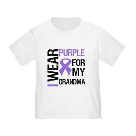 IWearPurple Grandma Toddler T-Shirt