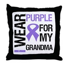 IWearPurple Grandma Throw Pillow