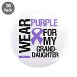"IWearPurple Granddaughter 3.5"" Button (10 pack)"