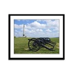 Cannon at Antietam Framed Panel Print
