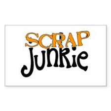 Scrap Junkie Rectangle Sticker 10 pk)
