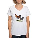 Ameraucana Fowl Women's V-Neck T-Shirt