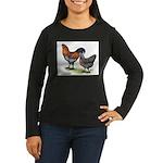 Ameraucana Fowl Women's Long Sleeve Dark T-Shirt
