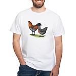 Ameraucana Fowl White T-Shirt