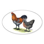 Ameraucana Fowl Oval Sticker (50 pk)