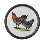 Ameraucana Fowl Large Wall Clock