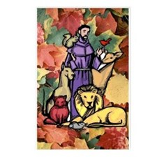Saint Francis Leaves Postcards (Package of 8)