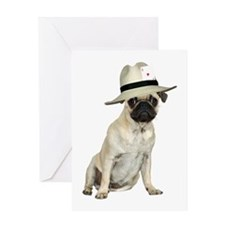 Poker Pug Greeting Card