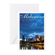Melbourne at Night Greeting Cards (Pk of 20)