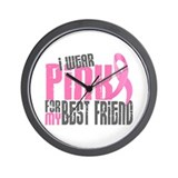 I Wear Pink For My Best Friend 6.2 Wall Clock