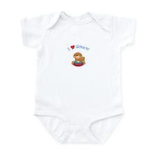 I Love Snow Sledding Infant Bodysuit