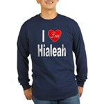 I Love Hialeah Florida (Front) Long Sleeve Dark T-
