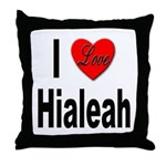 I Love Hialeah Florida Throw Pillow