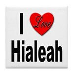 I Love Hialeah Florida Tile Coaster