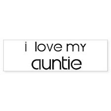 I Love My Auntie Bumper Sticker (10 pk)