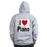 I Love Plano Texas (Back) Zip Hoodie
