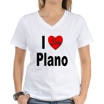I Love Plano Texas (Front) Women's V-Neck T-Shirt