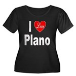 I Love Plano Texas (Front) Women's Plus Size Scoop