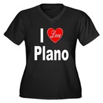 I Love Plano Texas (Front) Women's Plus Size V-Nec