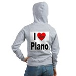 I Love Plano Texas (Back) Women's Zip Hoodie