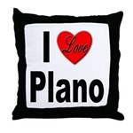 I Love Plano Texas Throw Pillow