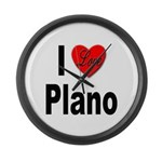 I Love Plano Texas Large Wall Clock
