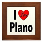 I Love Plano Texas Framed Tile