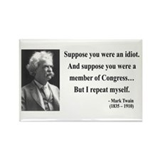 Mark Twain 15 Rectangle Magnet