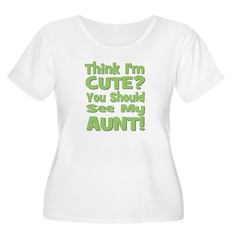 Think I'm Cute? Aunt Green Women's Plus Size Scoop