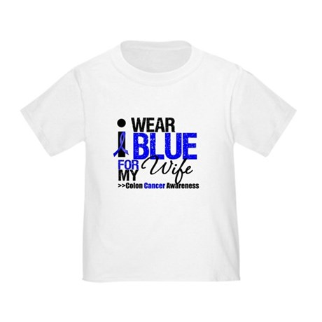 I Wear Blue (Wife) Toddler T-Shirt
