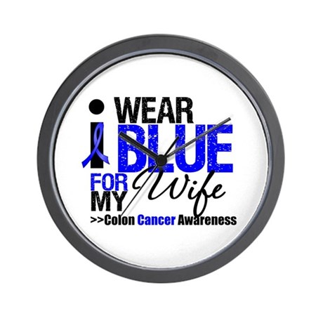 I Wear Blue (Wife) Wall Clock
