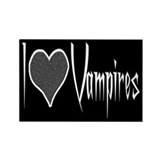 I Love Vampires Rectangle Magnet (10 pack)