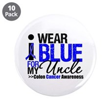 "I Wear Blue (Uncle) 3.5"" Button (10 pack)"