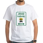 Jihad Parking White T-Shirt