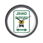 Jihad Parking Wall Clock