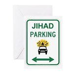 Jihad Parking Greeting Cards (Pk of 10)