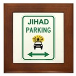 Jihad Parking Framed Tile